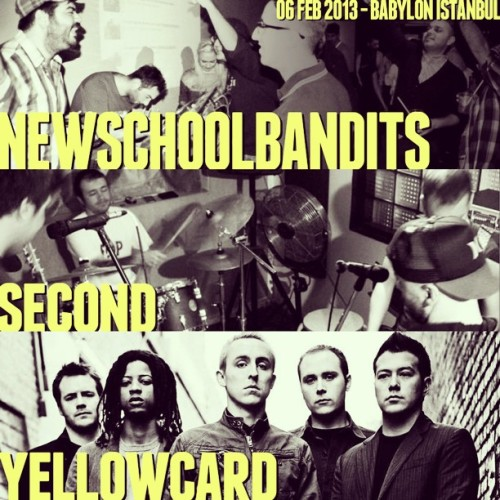 Çarşamba günü @Yellowcard @SecondOfficial ve @NewSchoolBandit, @babylonistanbul sahnesinde! https://www.facebook.com/events/397521103649331/
