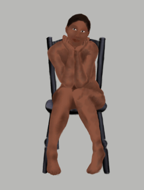 Seated Figure reference photo + graphics tablet + GIMP = art figure reference stock photo from SenshiStock