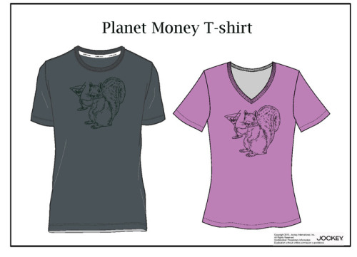 "NPR's Planet Money has launched a Kickstarter project. For $25, you can receive a custom t-shirt that tells the story of its own creation. The Planet Money team is following every little detail of fabric production, sewing, shipping, and whatever else goes into a t-shirt. As you can see, the shirt design has absolutely nothing to do with anything. I think my favorite part of the project is this explanation:  We thought about the design of our t-shirt like an apparel company would. What feelings, we asked ourselves, do we want the design to evoke? Well, we answered ourselves, as journalists we're always striving to cover the potentially frightening world of finance and economics in an accessible and fun way. And so we want our t-shirt to feel accessible and fun as well. What, we concluded, is more accessible and fun than a squirrel hoisting a martini glass! Also, it's a visual pun — a reference to the phrase ""animal spirits"" made famous by the economist John Maynard Keynes. In the 1930s, Keynes wrote that most of our decisions ""can only be taken as the result of animal spirits—a spontaneous urge to action rather than inaction, and not as the outcome of a weighted average of quantitative benefits multiplied by quantitative probabilities."""