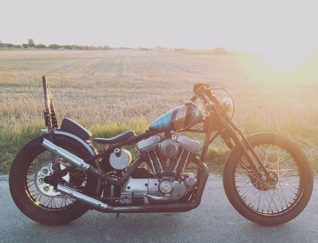 """lowbrowcustoms: """"@behindbarsmotorcycles has been working on his sporty for a long time, looking good man! #sportster #lowbrowspotlight #choppers #sporty #harleydavidson #motorcycles #Chopcult #chopper """" Sportster"""