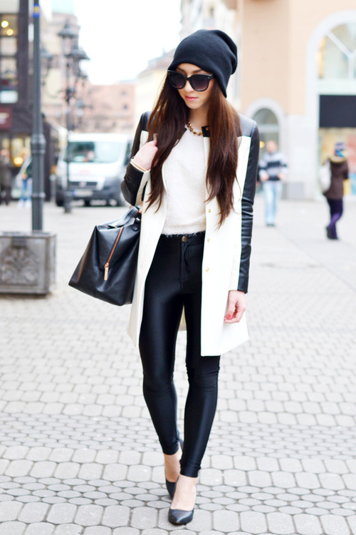 must-have-outfits:  great b&w ensemble ladyboyvogue:  !* Flirting with Fashion on @weheartit.com - http://whrt.it/11sZz0t