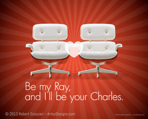 A Valentine for lovers of the Charles and Ray Eames.