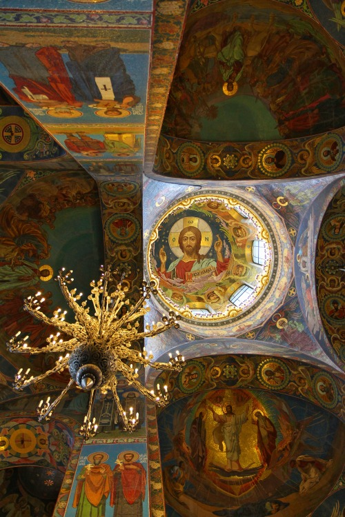 Ceiling of the Church of Our Saviour on the Spilled Blood, Saint Petersburg, Russia