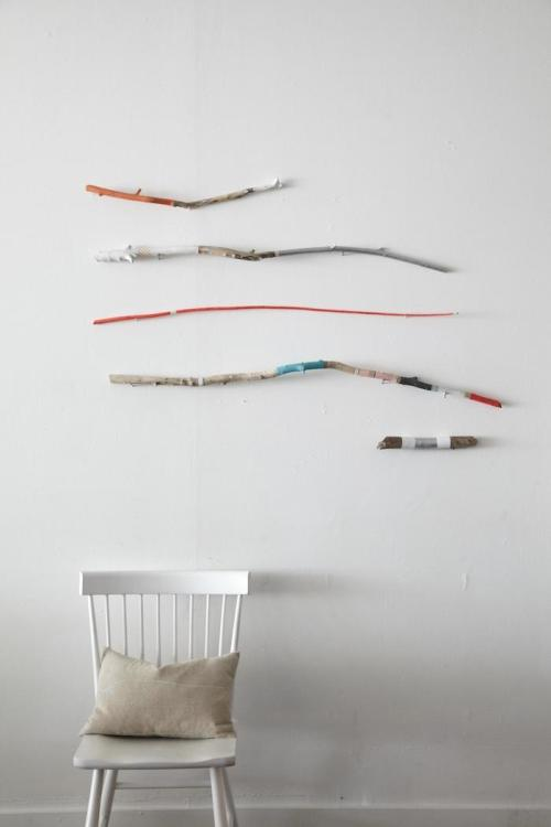 I'm liking these wall pieces. (via Restaurant as DIY Gallery: L'Ouvrier in Toronto : Remodelista)