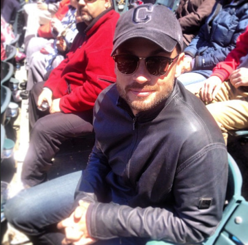 TomWelling , New Candid at the Indians game today (May 13, 2013) - via @Indians