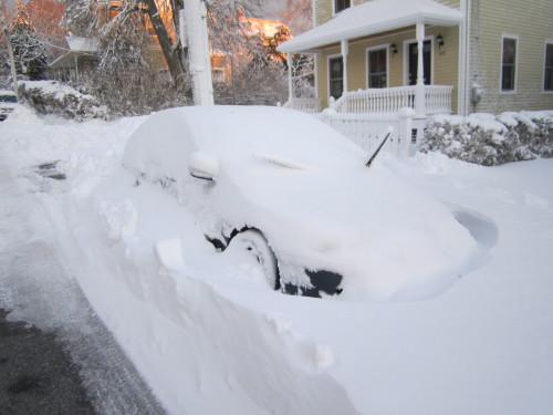 My car on Webster St in Newport.  In a town like this parking can be very valuable.. Exhibit A.