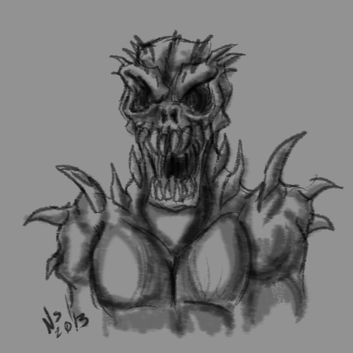 Monster speedpaint, I haven't straight-up drawn nightmarish monsters in a long-long while, feels really good to do stuff like this again