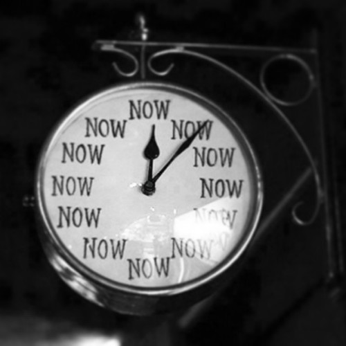 zenpunkmonk:  Zen clock. All there is, is Now.