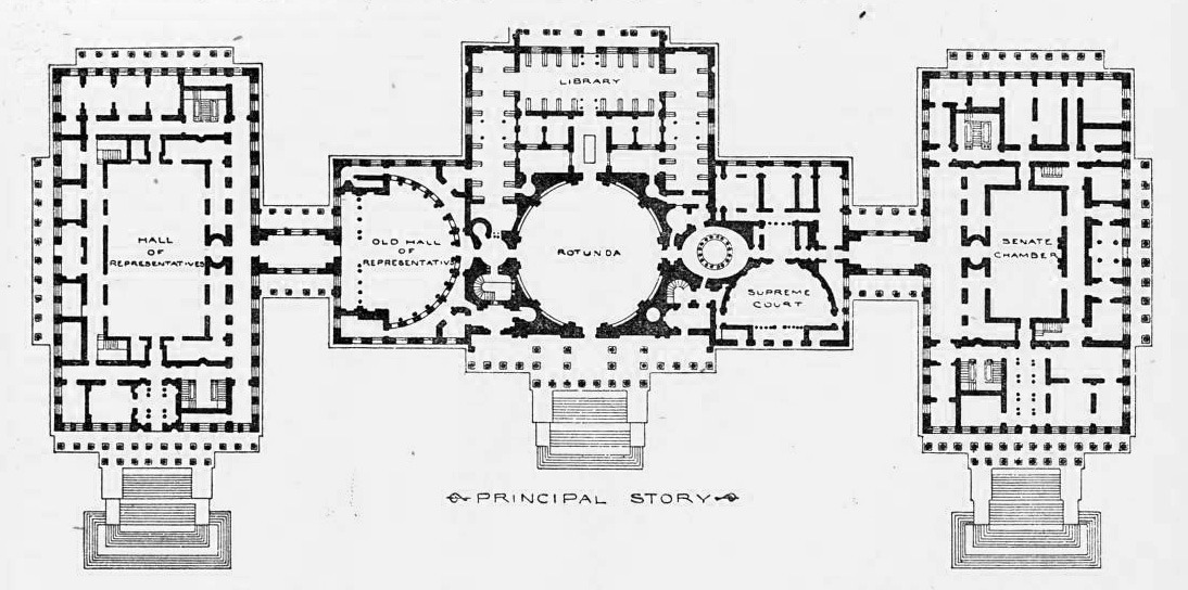 Floor plan of the Capitol Building, Washington D.C.