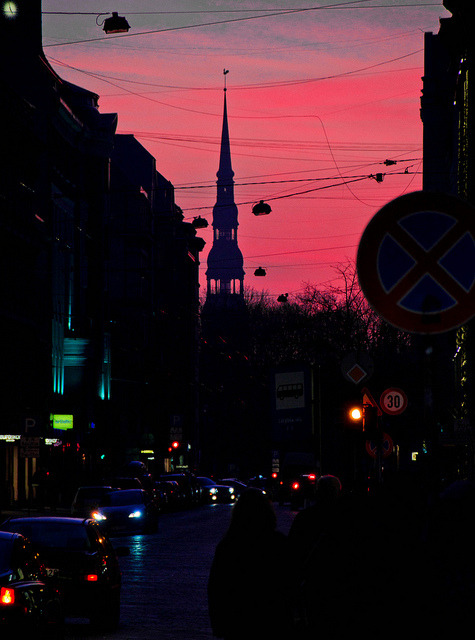riga2014:  Foto: Filips Šmits Riga at sunset