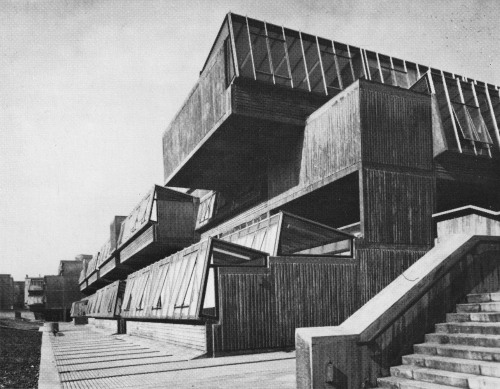 fuckyeahbrutalism:  Pimlico Secondary School, London, 1967 (Greater London Council Department of Architecture & Civic Design)  Demolished 2010, replaced by an academy. What a deeply sad symbol of the regression from the egalitarian '60s to the modern day.