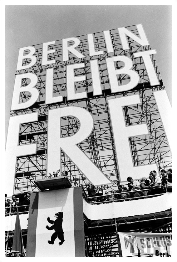 "blejz:  ""Berlin Remains Free"" – May Day in West Berlin Photographer: James Whitmore"