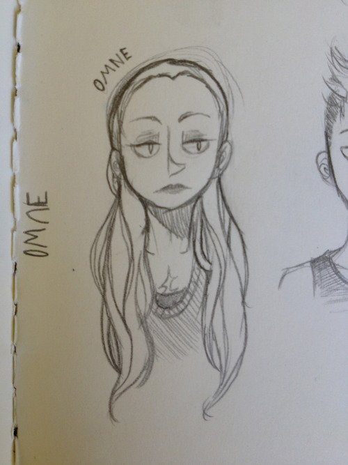 Doodles from school today~ mainly just Omne with a dash of Adam tossed in, both from a story concept that's been rattling around in my head for a few years now that I'm really just now starting to develop OTL