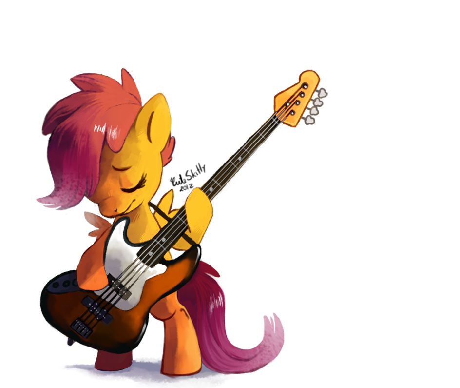 theponyartcollection:  scootaloo bass by *CuteSkitty