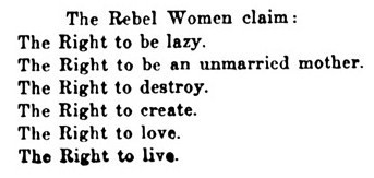 The Woman Rebel ~ 1914  |  cf. the gender income gap ~ 2013
