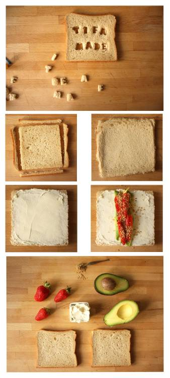 Here's a closer look at the Caterpillar Sandwich I made for the current issue of Luna Magazin.