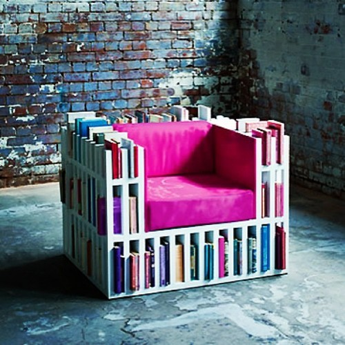always-a-daydreamer:  Chair And Bookcase In One! on We Heart It. http://m.weheartit.com/entry/61069908/via/kitaaburdett