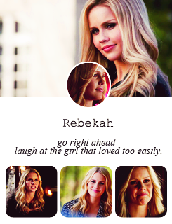 The Vampire Diaries + Female Characters inspired by (x)
