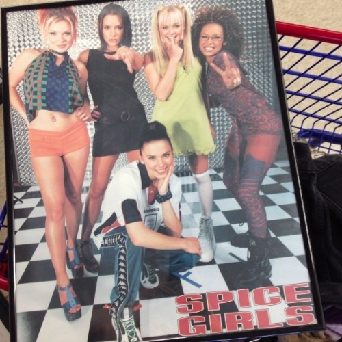 GREAT DEAL ALERT: 3 ft tall framed Spice Girls poster available at the Salvation Army on Jerome