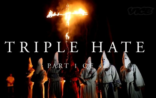 vicemag:  'Triple Hate' is a four-part documentary about Nathan Bedford Forrest, the Memphis City Council, the Klan, the Crips, Ulysses S. Grant, racism, and the specter of history. It will be airing every day this week, only on VICE.com.  Watch Part 1  *Seems like an interesting watch. Will leave a comment once I check it out.
