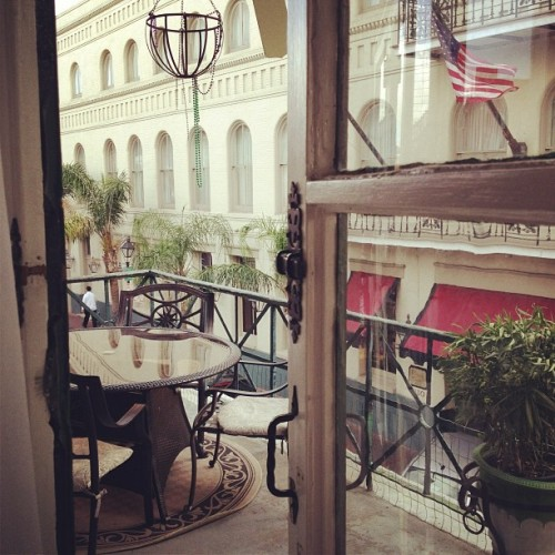 why yes, Garçon, we will take our aperitif on the balcony. #frenchquarter #nola #neworleans