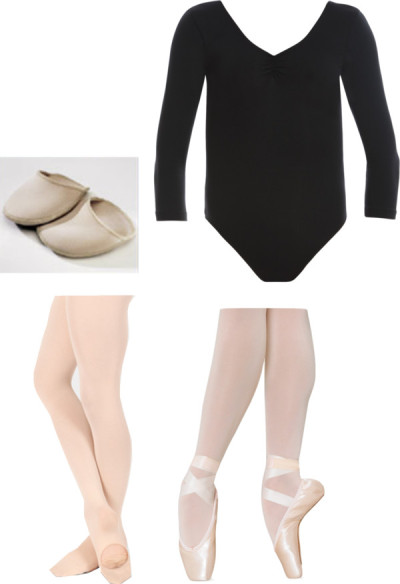 deleanorperfection:  Danielle inspired for Ballet by fiftyshadesofeleanorcalder featuring ballet flat shoes