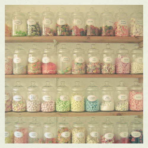 candies, candy, jar, pastel, pretty, vintage - inspiring picture on Favim.com on We Heart It. http://weheartit.com/entry/14309013/via/madamarcu