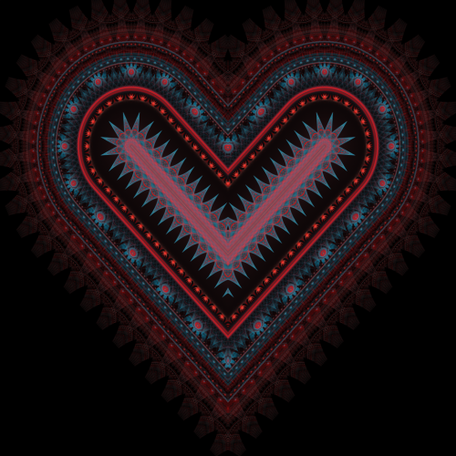 Fractal Heart by ~haywain (Wægen)       (fh510b) Available from DeviantART as high resolution (5000x5000px) download for free, or for purchase as print (prints, cards, mugs and more).