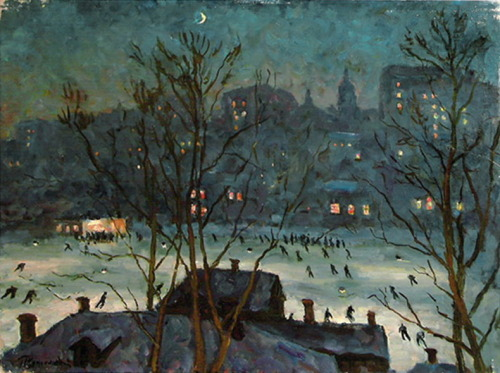 simena: 1948 Pyotr Konchalovsky (Russian, 1876-1956) ~ The Skating Rink