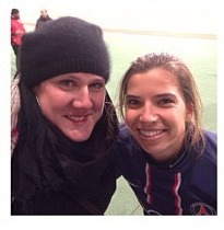 Tobin and Suz, after the psg game! Tobs looks so cute!