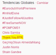 smilesbyyouridols:  The most beautiful TT. Thank you BTR.