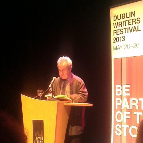 John Banville reading from his Booker prize winning book 'The Sea' @dublinwritersfestival #dwf2013