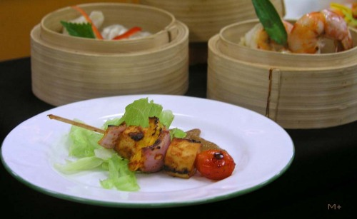 Tofu Skewer and Dim Sum Good combination for your starter….!