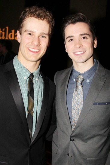 reprisemyrole:  Matt and Ryan at the opening night party for Matilda