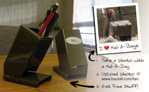 garbagepro:  Desk a mess? Get a new pen holder by following these simple steps. Then, once you receive your awesome HB Nano (pen holder), see if you can figure out the flattened shape - they're made from a single folded sheet of steel.Go to http://haulall.com/fan for more details!