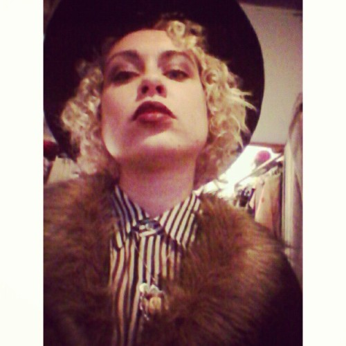 Giving rainy day Oscar Wilde #realness. #oot #fashion #style #fauxfur