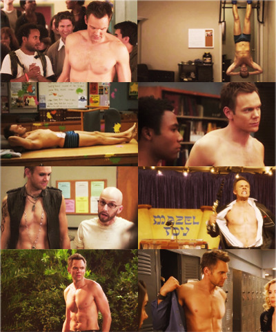 screencap meme: jeff winger+shirtless (requested by Ri)