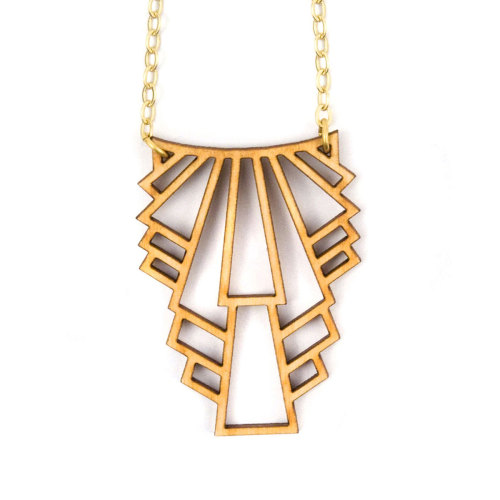 Fab.com Pop-Up Shop: Metropolis Necklace Birch on Fab.Fab.comThis laser-cut pendant is inspired by Art Deco decadence. There's an industrial feel to the piece, and yet it's subtle, modern, and light enough to be worn every day. Made from birch wood and strung on a gold-plated chain, this handmade design adds textural depth and an eye-catching natural element to your look.