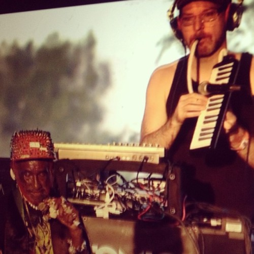 subatomicsound:  Dubbing 'pon the #jumbotron @Coachella #LeeScratchPerry & #SubatomicSoundSystem C u again April 19!  I wish I had been there for this! Looking forward to catch the deepest dub in PDX!