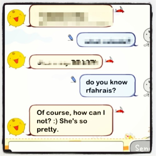 have a nice chat with simsimi.