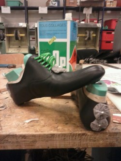 Shoes making.