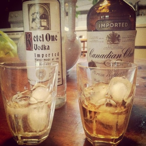 His and hers. #kettleone #canadianclub