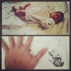 The furthest I could possible #throwback #tbt. the day I was born, and now my 23rd birthday. My life is such a blessing. God and Love truly exist.
