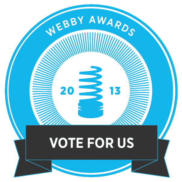 charitymiles:  greatist:  We're a nominee for the best health website online from what's basically the Oscars of the Internet, the Webbys! It's an amazing honor & we're hoping to win the People's Choice award, but really need your help— every vote counts! If you haven't already, throw us a vote & share it w/ your friends so they can help, too: http://bit.ly/ZlHxij  We love the awesome health and fitness tips from Greatist. Help us show them the love by voting here!  Doooo it.