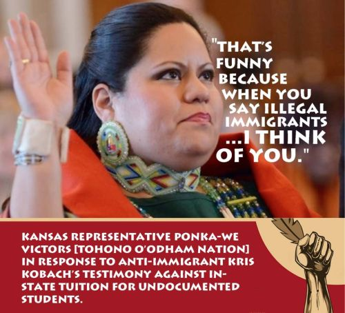 stfuconservatives:  This kickass lady (and Kansas state representative) really said that.
