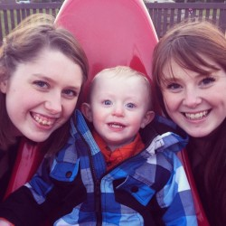 Play at the park with Auntie Mommy and Josh. :D It was freezing cold outside!