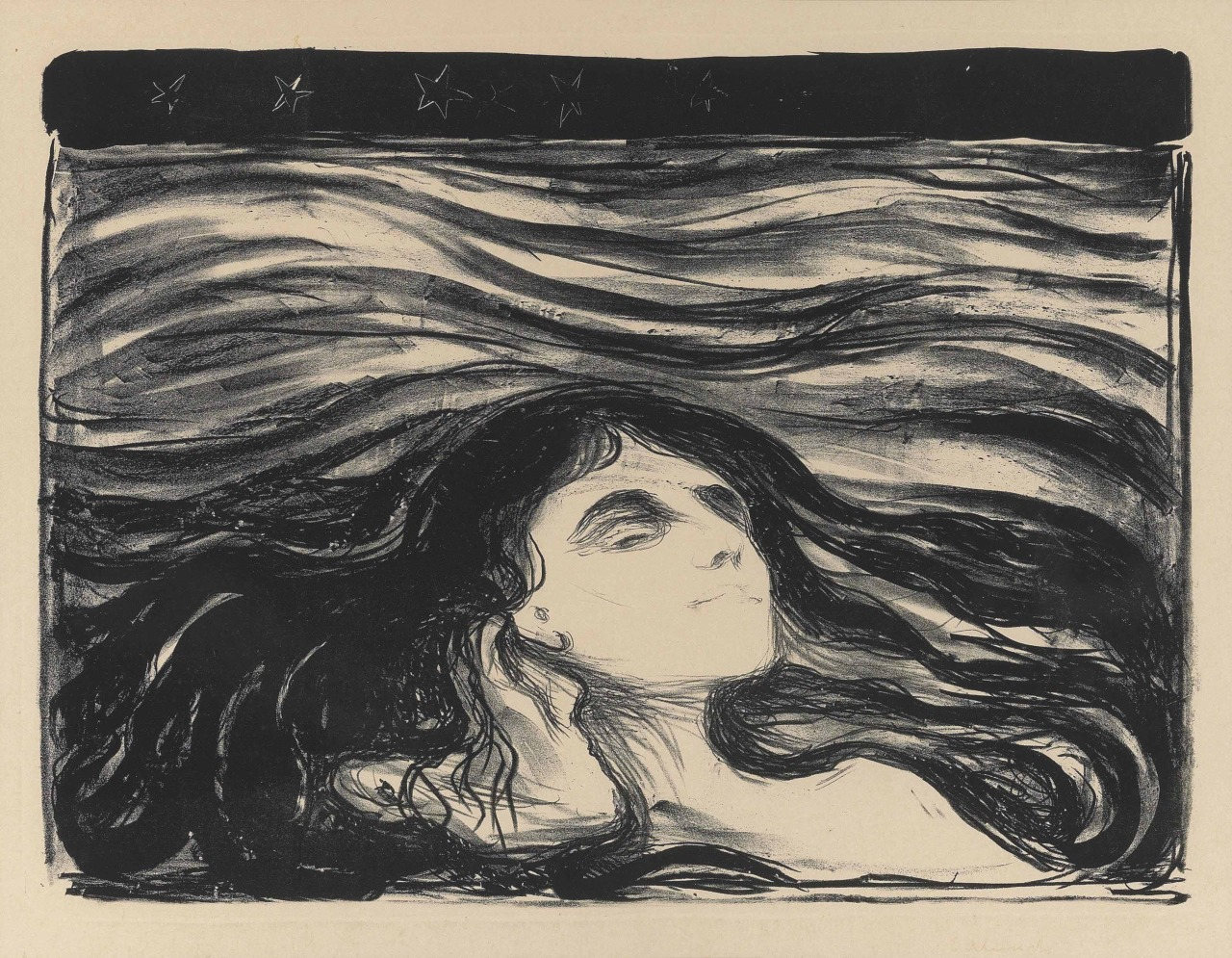 nevver:  On the Waves of Love, Edvard Munch  I saw this on my dash and exhaled. A deep release. This makes me float on waves right along with it.