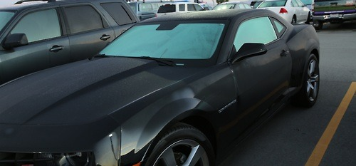 David Hanjani's sexy 2013 camaro SS in satin black PAINT.. NOT the wrap. :)