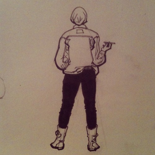 thedreadpiraterose:  yalestewart:  Girl from reference.  One of my favorite artists drew me. I'm refraining from reposting this using all caps lock so I don't terrify anyone. But I'm so excited that I had to retype this several times before I started using recognizable words. Reference photo cred to this lady (you should check out her stuff): http://meghaljanardan.tumblr.com/ And also check out this guys webcomic, which is one of my favorites and you're going to love it: http://jl8comic.tumblr.com/