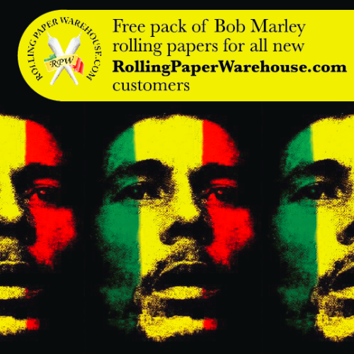 Marley rolling papers flyer design - 2013
